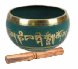 Cuenco tibetano verde
