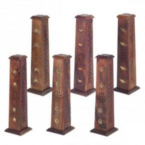 incensario torre madera