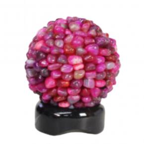 Lámpara agata rosa rodados