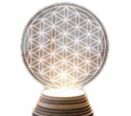 lámpara flor de la vida