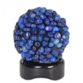 Lámpara rodado ágata azul