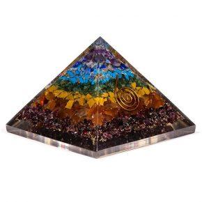 piramide orgonita 7 chakras