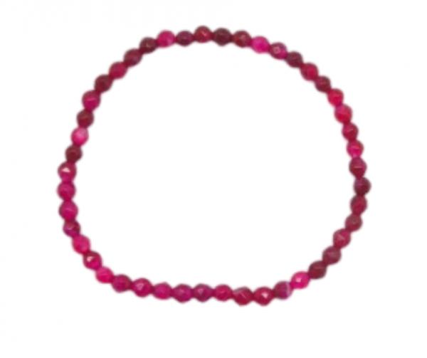 pulsera agata rosa