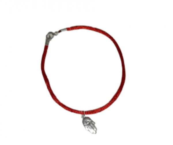 Pulsera Mano de Fatima cordón rojo