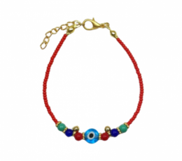 pulsera ojo turco piedras colores