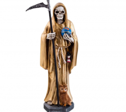 Figura santa muerte dorada 29 cm
