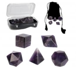 Set poliedros amatista