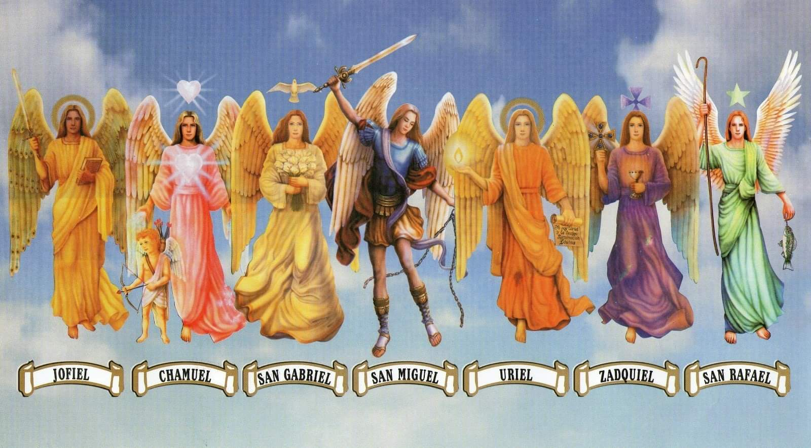 Los siete arcángeles: ✅conoce sus días, colores, piedras