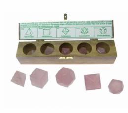 solidos platónicos cuarzo rosa