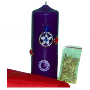 Velón talismán protección